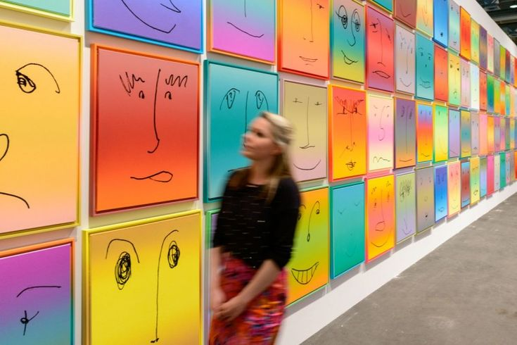 Works by Rob Pruitt, 2013, presented by Gavin Brown's enterprise, New York at Unlimited, Art Basel are displayed on June 10, 2013 in Basel, ...
