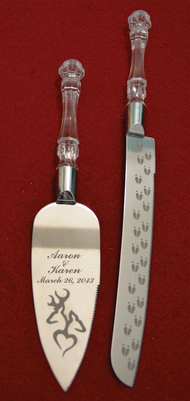Buck and Doe Heart Wedding Cake Knife and Server by AaronEtches, $29.00