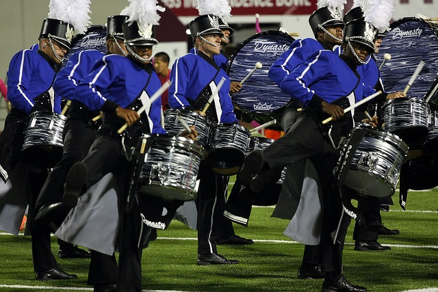 The Blue Devils are a top marching band in the Drum Corps International. I would love to be able to teach a group of percussionists like this because they are so advanced in their knowledge of music.