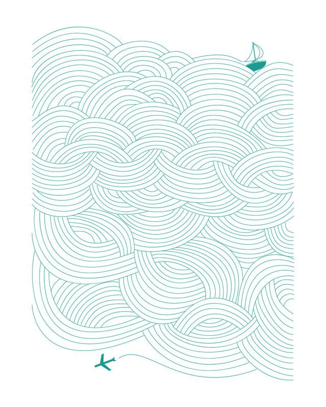 """Field of Waves Limited Edition Art Print by Papersheep Press 