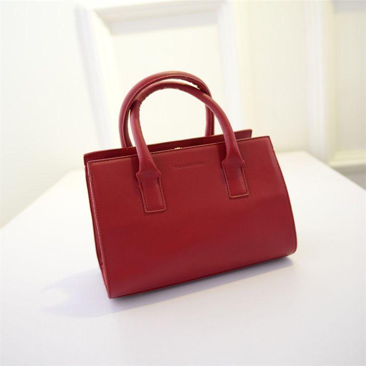 Women Handbags Casual Top-Handle Bag Solid Shoulder Bag Women Messenger Bags Fashion Tote PU