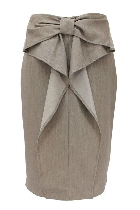 pencil skirt suit sets | Stone Bow Accent Pencil Skirt   YESSSSSSSS