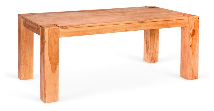 A masterpiece in minimalism, this chunky dining table in mango wood lends square and spare chic without superfluous detail.