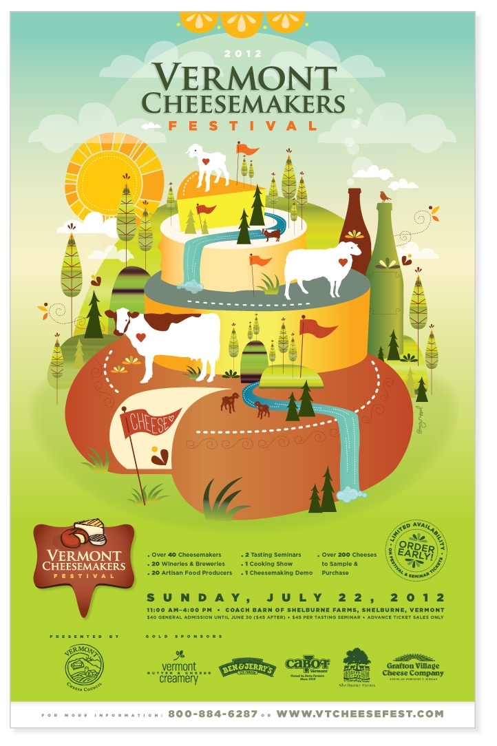 Amy Ruppel -  Vermont Cheesemakers' Festival Poster 2011