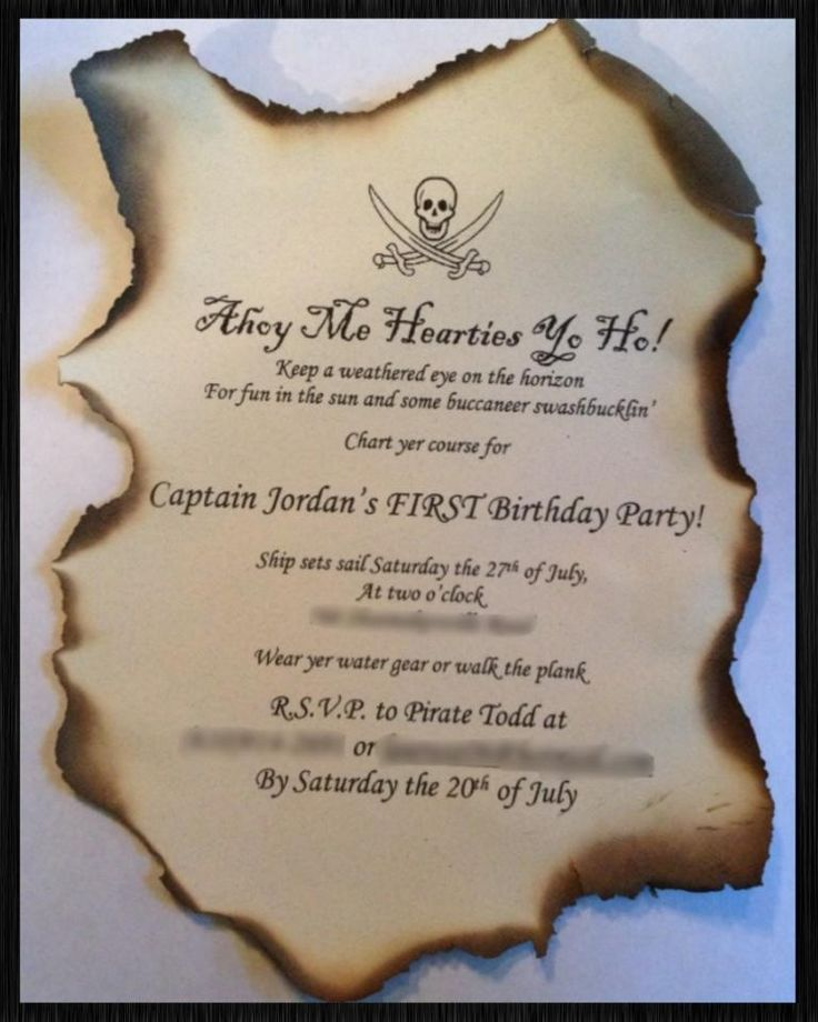 The 25 best Pirate Party Invitations ideas – Pirate Party Invites