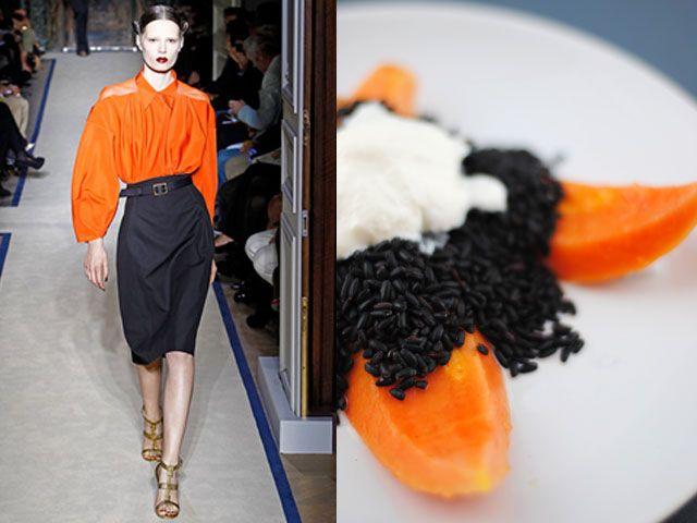 Yves Saint Laurent ss 2011 / Papaya & black rice