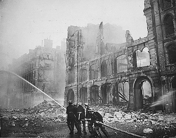 The Blitz was when for two years Germans mounted an air attack on British cities, main ports and any other important industrial areas with heavy bombings.