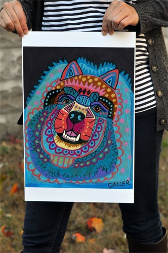 Dog Print  Chow Chow Art Poster of Painting   by HeatherGallerArt, $24.00