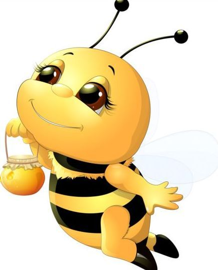 lovely cartoon bee set vectors 15