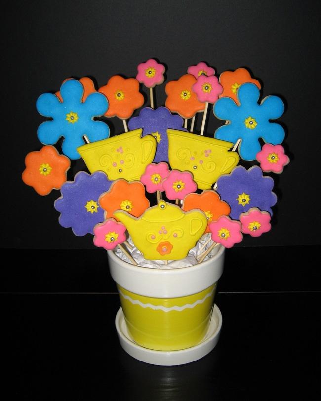 flowersCookies, Sweets, Cupcakes, Flower
