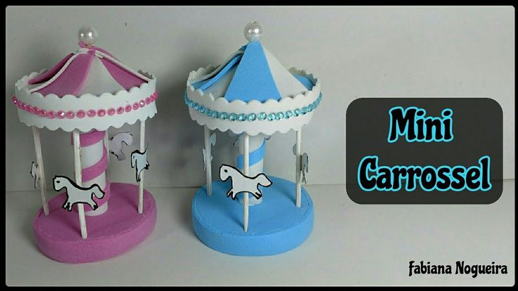 Mini Carrossel com Molde🎠 / Lembrancinha de Chá de Bebê 👶💕