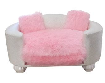 Pink Dog Bed Small Dog Bed Luxury Pet Bed Pet by PoochieofBevHills