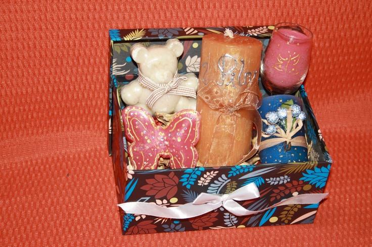 Velas artesanales pintadas a mano