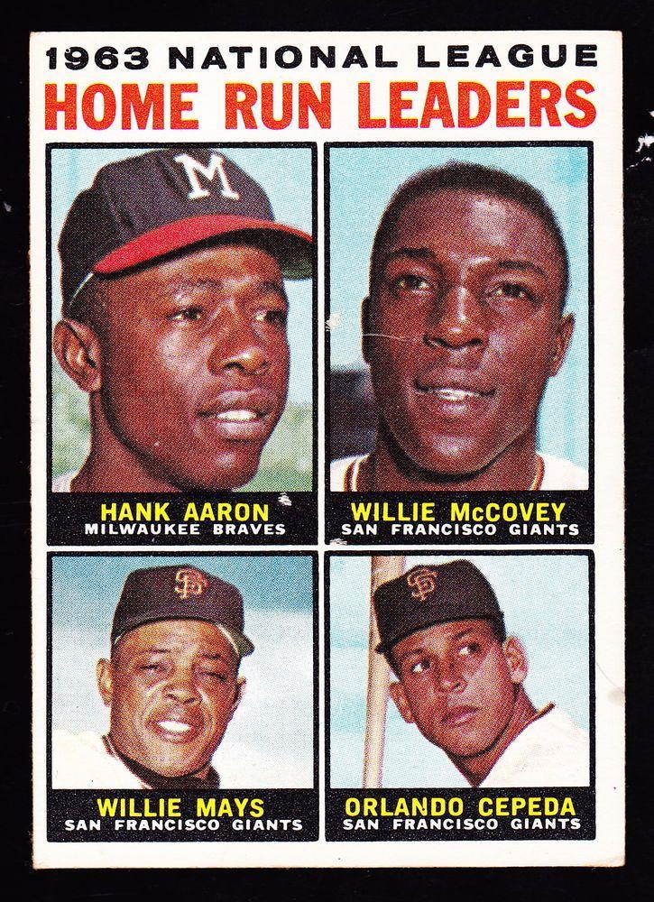 1964 Topps 9 Hank Aaronwillie Mccoveywillie Maysorlando