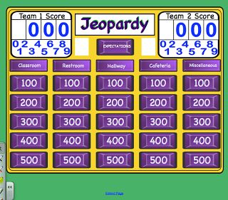 Expectations Jeopardy for the Smartboard (social skills activity) download