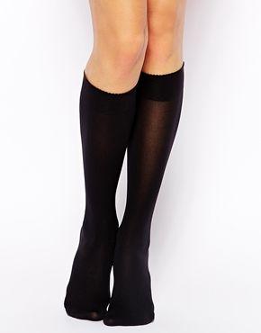 Wolford Velvet de Luxe 50 Denier Knee High Socks