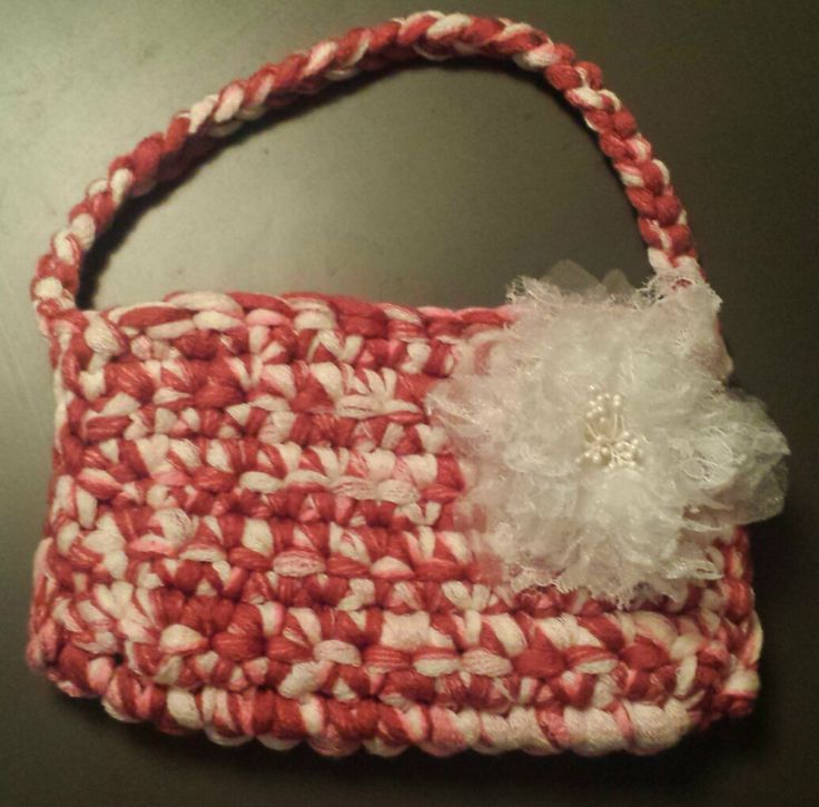 Little Olivia Crochet Handbag by CrochetbySparkle on Etsy, $20.00