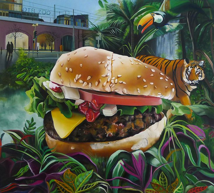 """""""ZOO"""", 100cm x 90cm, oil, canvas, 2014 http://justynakisielewicz.com/praca,124,zoo"""