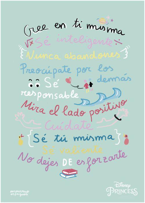 Este es el póster que he hecho para Disney España con los mandamientos de las nuevas princesas Disney :)