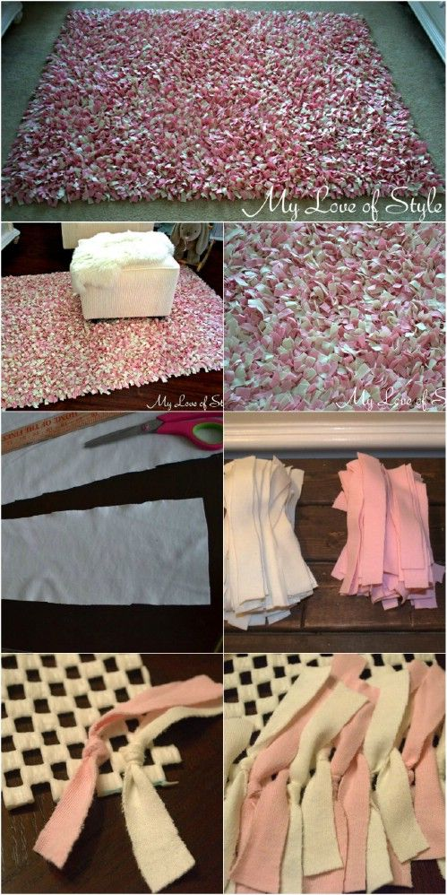 25 fun diy projects for a cozy and inviting home 5 is so charming and useful diy shag rug charming shag rugs
