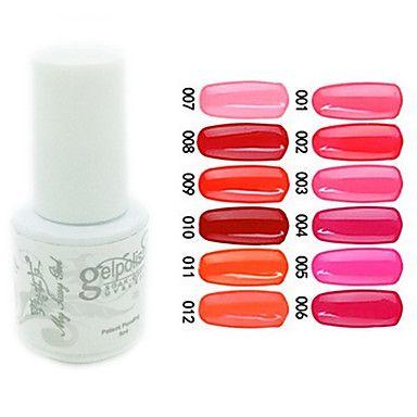 yemannvyou®sequins uv kleur gel nagellak no.1-12 (5 ml, diverse kleuren) - EUR € 2.90