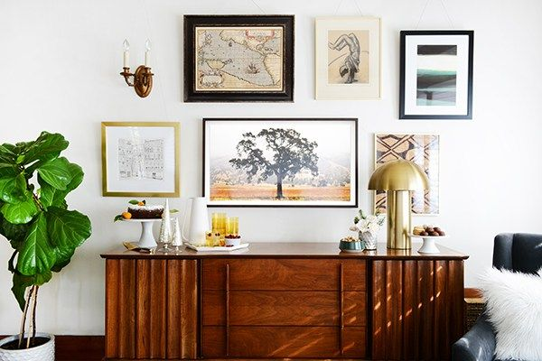 The Frame By Samsung Oleander Palm Tv Gallery Wall Framed Tv Gallery Wall Frames