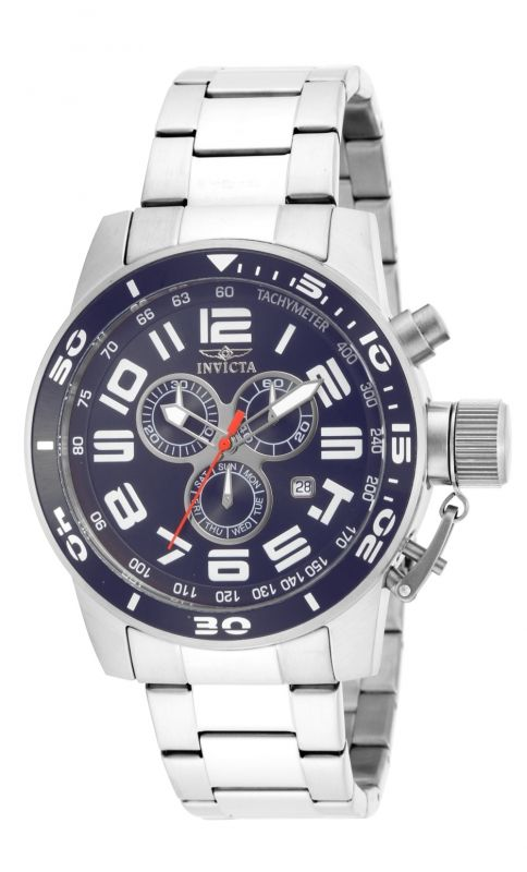 Invicta Corduba 17098, crea un estilo casual con este increíble reloj de acero inoxidable y cristal Flame Fusion.