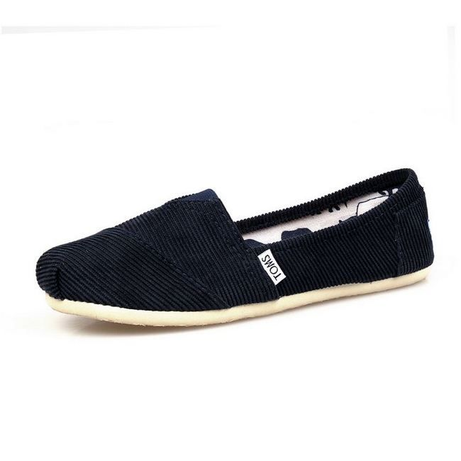 New Arrival Toms women shoes corduroy black