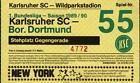 #Ticket  Ticket BL 89/90 Karlsruher SC  Borussia Dortmund #nederland
