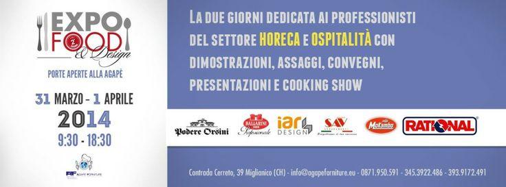 Torna Expò Food: due giorni di eventi, conoscenza, sapore e design all'Agapè di Miglianico | L'Abruzzo è servito | Quotidiano di ricette e notizie d'Abruzzo