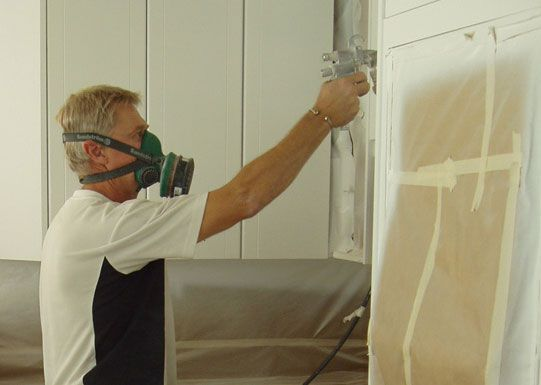 Dudley and Sons: Spray the kitchen you've already got and also fit stone bench tops. Call them in for a quote