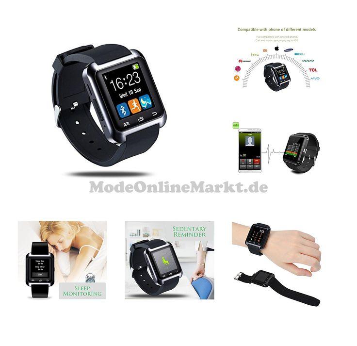 0608560185894 | #GSTEK #Smart #Watch, #Bluetooth #Smartwatch, #Armband-Telefon #Uhr mit #Schrittzähler, #Touchscreen #für #Smartphones mit #Android #System, #Samsung, #HTC, #Sony, #LG, #Blackberry, #Huawei  #8211; #Schwarz