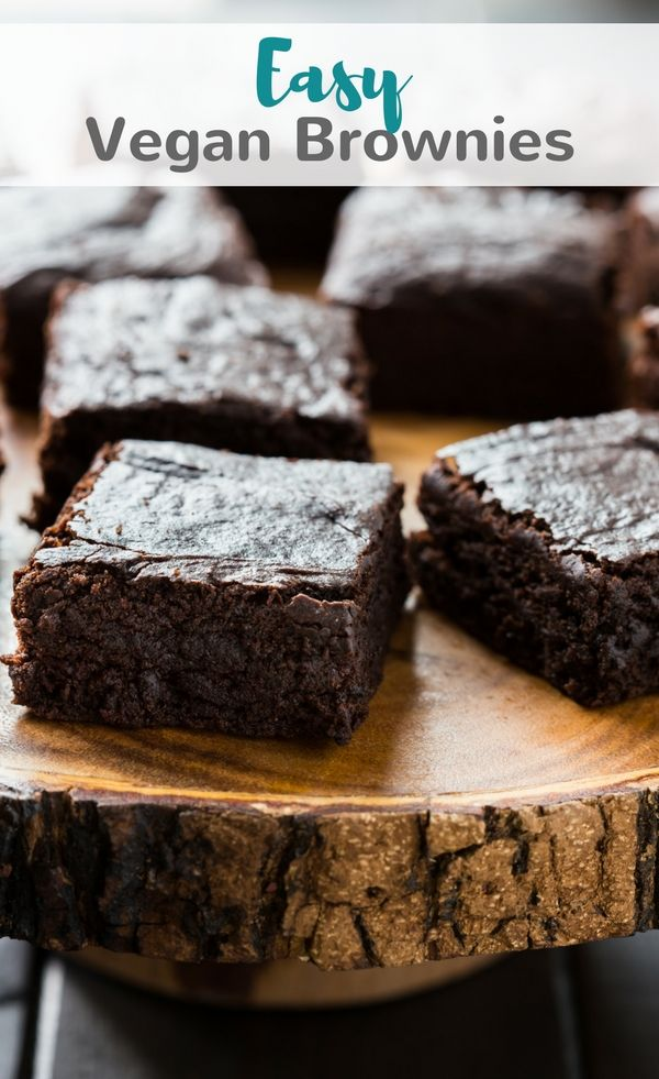 Easy Vegan Brownies made with avocado, coconut sugar, coconut milk, and coconut oil. This brownie recipe will completely blow you away. #vegan #brownies #avocado #coconutmilk #chocolate via @introvertbaker