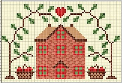 Cross Stitch World: CROSS STITCH:_ 11 Houses