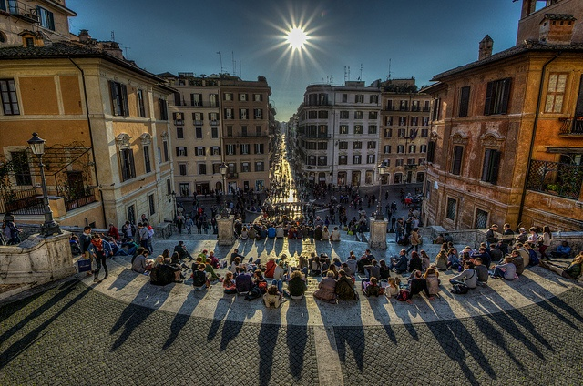 Round the world in HDR : PIAZZA DI SPAGNA(世界一周HDR写真:ローマのスペイン広場)