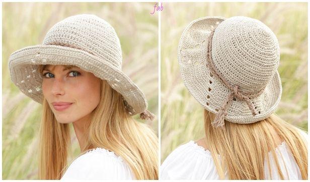 Vintage Crochet PATTERN to make Sun Beach Hat Bag Tote Summer Sombrero