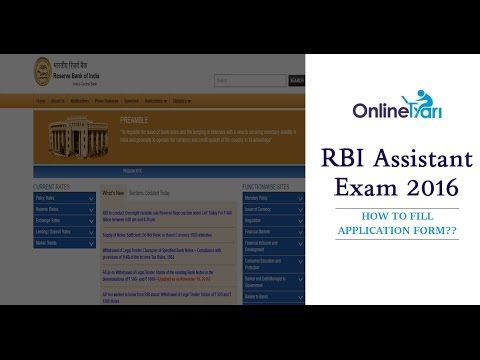 RBI Assistant 2016  https://youtu.be/6bWDinQrF7k  #RBI Assistant guidelines 2016 #onlinetyari