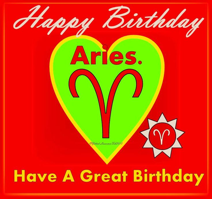 A Birthday Card for you Aries, wishing you all the best for a successful and happy  year.