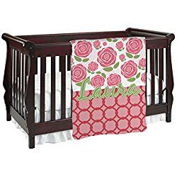 Red Roses Personalized Baby Blanket (Double Sided)