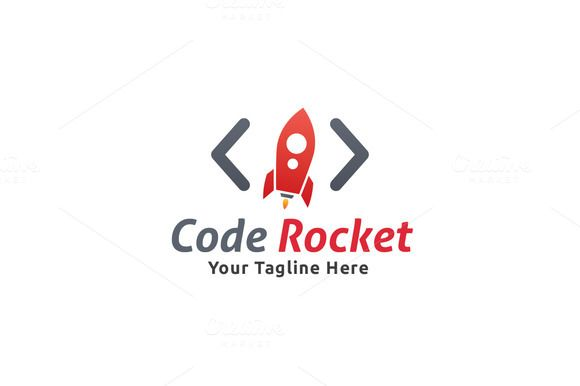 Code Rocket Logo by Martin-Jamez on Creative Market