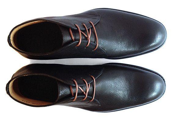Men's Goodyear Welted Black Desert Boot