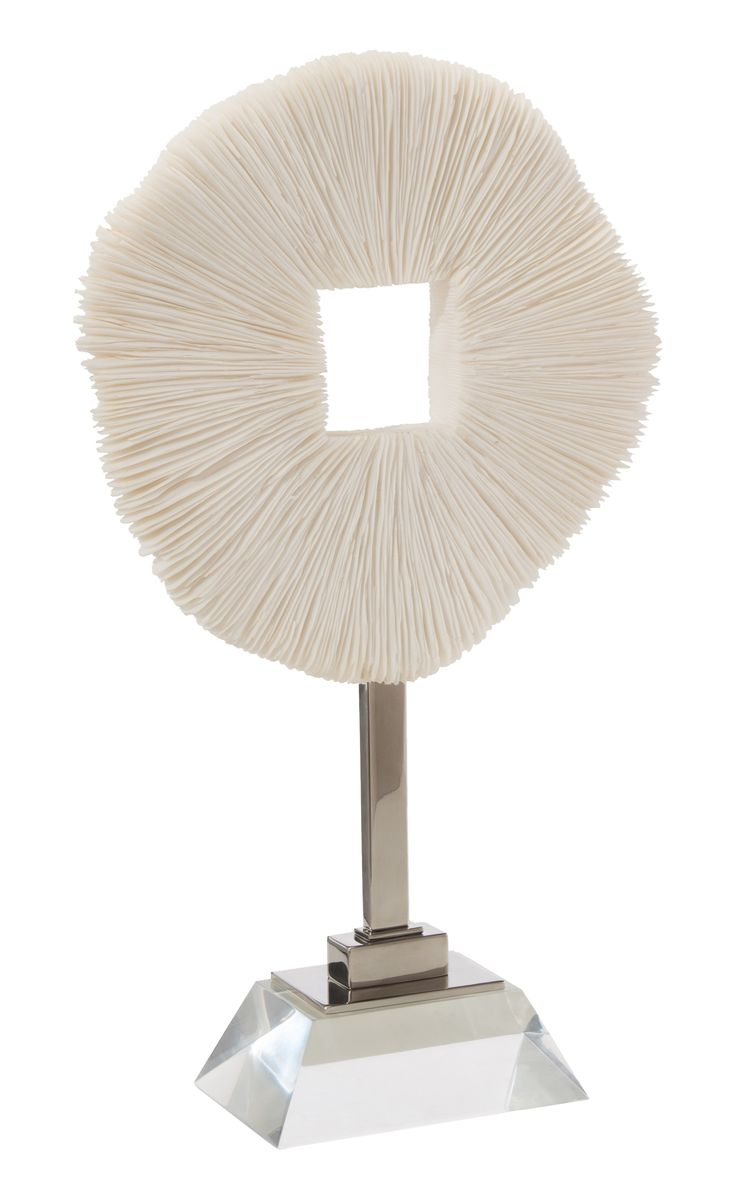 Buy Razor Coral on Lucite Base by Pineapples Palms Too - Made-to-Order designer Accessories from Dering Hall's collection of Contemporary Transitional Organic Decorative Objects.