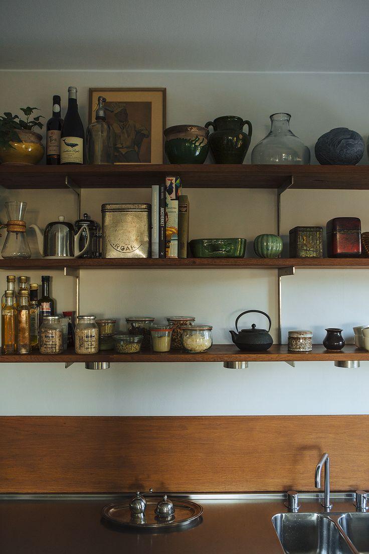 Kitchen shelves, storage. Scandinavian interior. Fantastic Frank Real Estate.