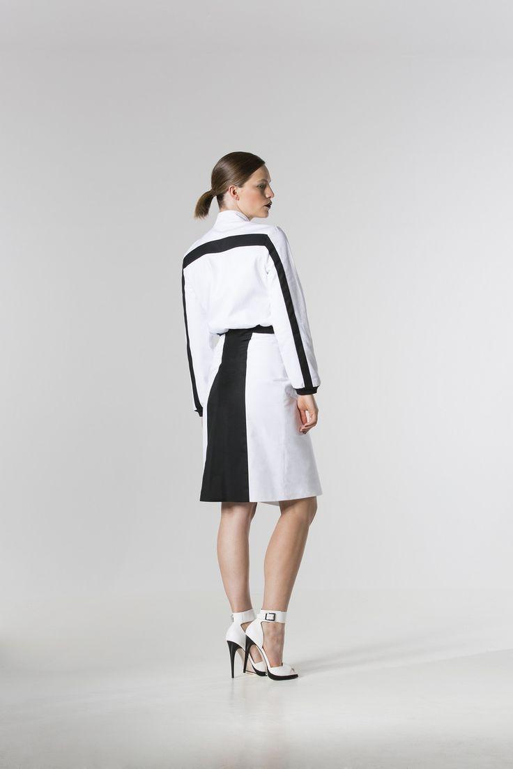 The @ gailporter Denim Jacket, @scaersk Denim Wrap Skirt. http://spencerclothing.com