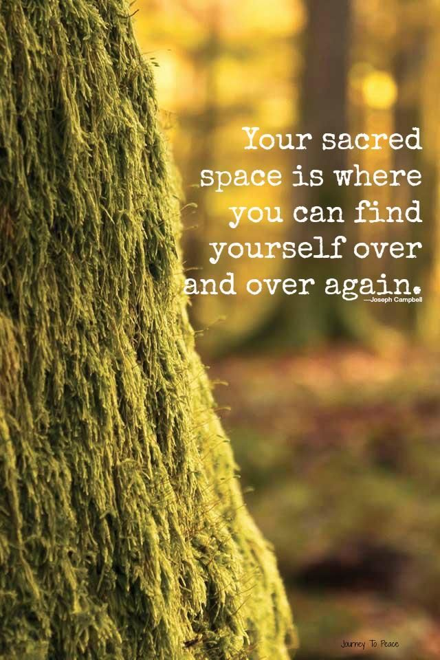 Your sacred space is where you can find yourself over and over again. #quotes