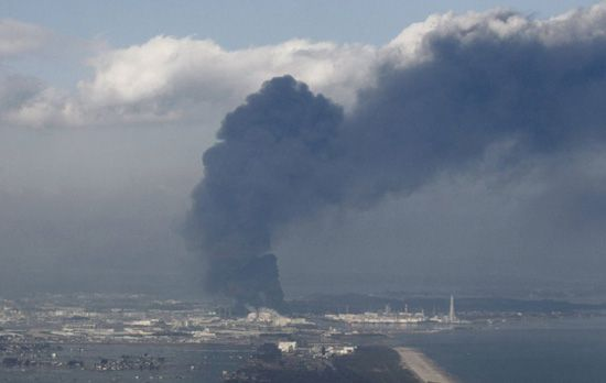 Smoke is seen here coming from the Fukushima Daiichi nuclear plant.