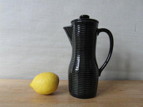 Rörstrand CEYLON coffeepot black Hertha by littledanishmood