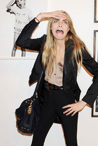 The British model makes the most crazy-amazing faces we've ever seen. Let's hope she doesn't get stuck that way!