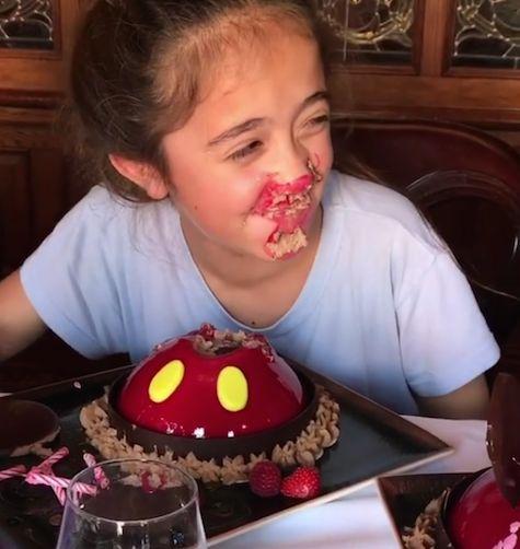 Salma Hayek's Daughter Turns 10 - http://celebritybabyscoop.com/2017/09/29/salma-hayeks-daughter-turns-10?utm_source=Pinterest&utm_medium=Social #BirthdayCake #BirthdayGirl #CelebrityKid #FrancoiseHenriPinault #HappyBirthday #HappyBirthdayValentinaPinault #HBD #Ten #Valentinapalomapinault #ValentinaPinault