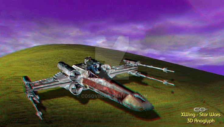 20.Cosovyn XWing - Star Wars 3D Anaglyph Color sf by cosovin.deviantart.com on @DeviantArt